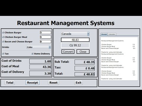 How To Create Restaurant Management Systems In Java