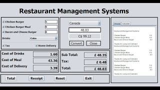 How to create restaurant management systems in java netbeans using if statement, jframe jtextbox, jlabel, buttons and checkbox use the following lines of cod...
