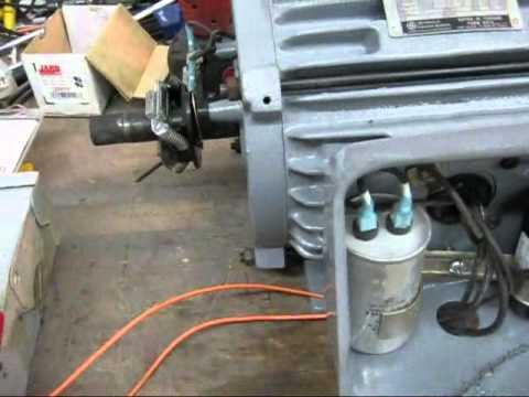 SinglePhase AC Induction Motor Explanation  GE Farm Motor  YouTube