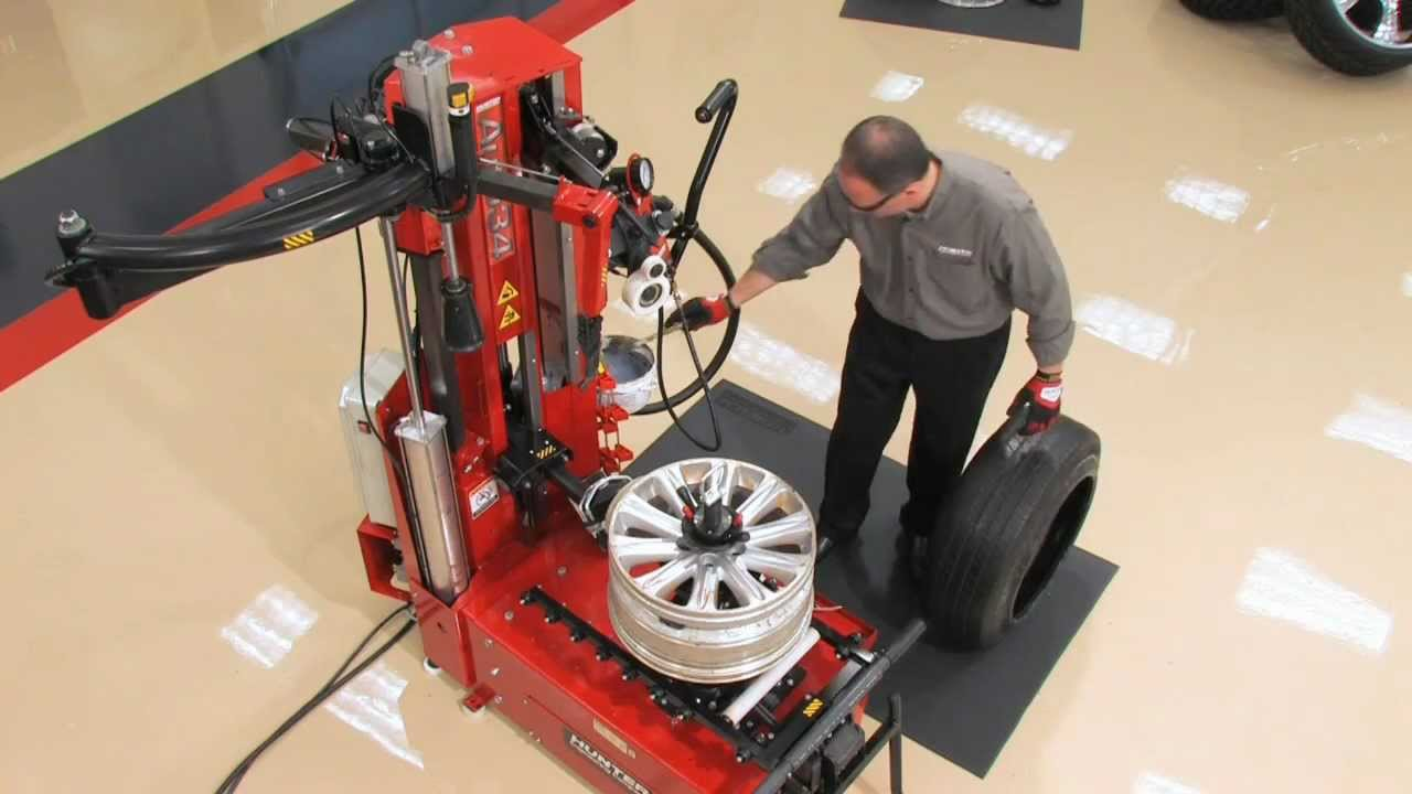 Wheel Alignment Machine >> Hunter Auto34 Tire Changer Operation - YouTube