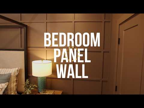 How to Create a Paneled Wall in a Bedroom – DIY Network