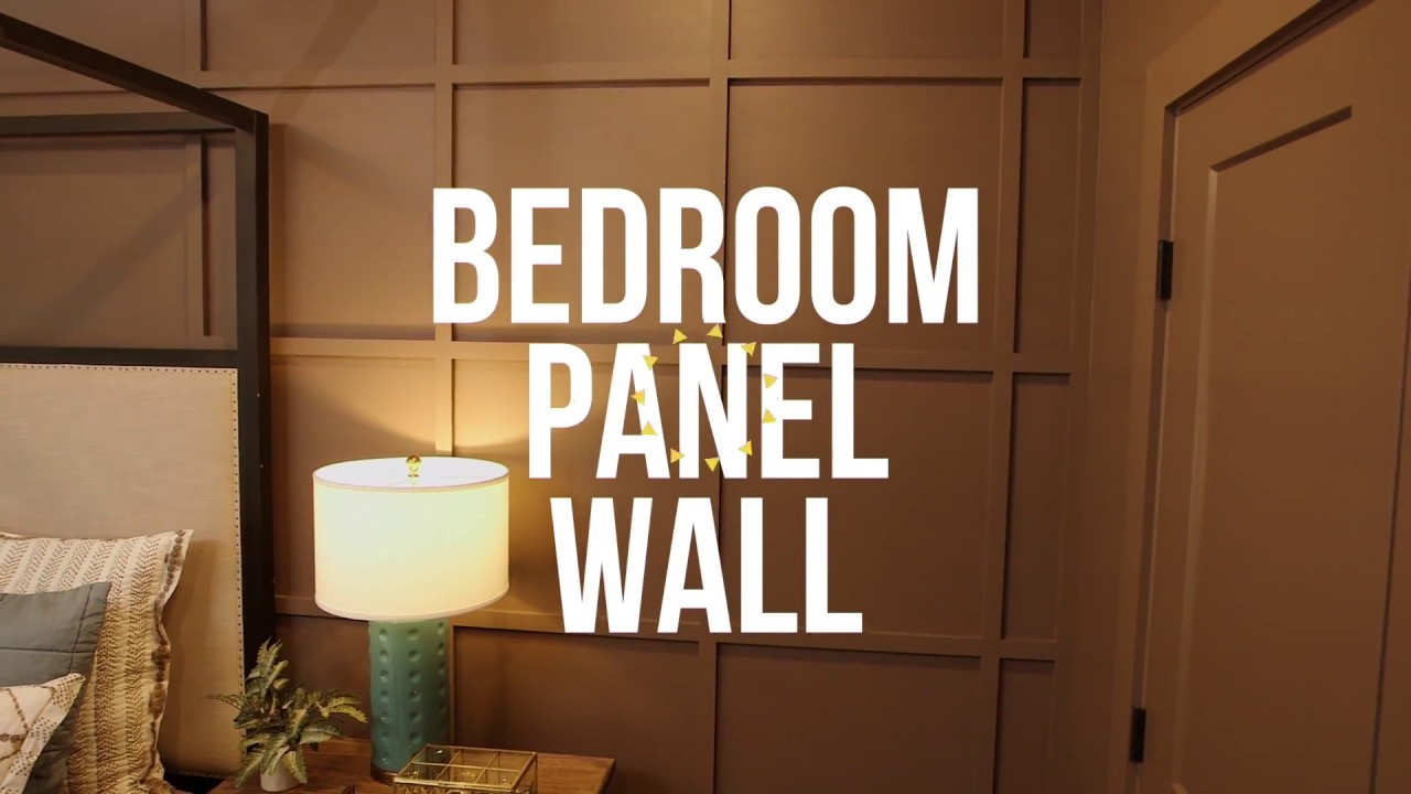 How To Create A Paneled Wall In A Bedroom - DIY Network - YouTube
