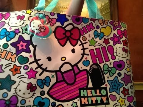 Hello Kitty Coloring Totebag Demo and Review - YouTube b521beb866942