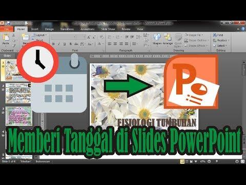 Cara Memberi Tanggal Pada Slide di Microsoft PowerPoint 2010