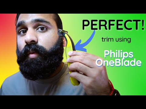 Trim beard using the Philips (Norelco) OneBlade? How-to and tips for grooming. | DHRME #71