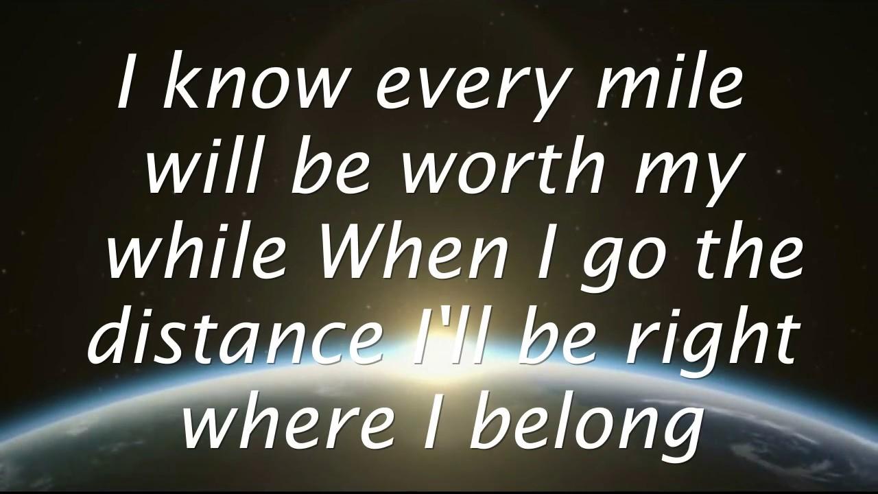 Go The Distance - Michael Bolton (Lyrics) HD - YouTube