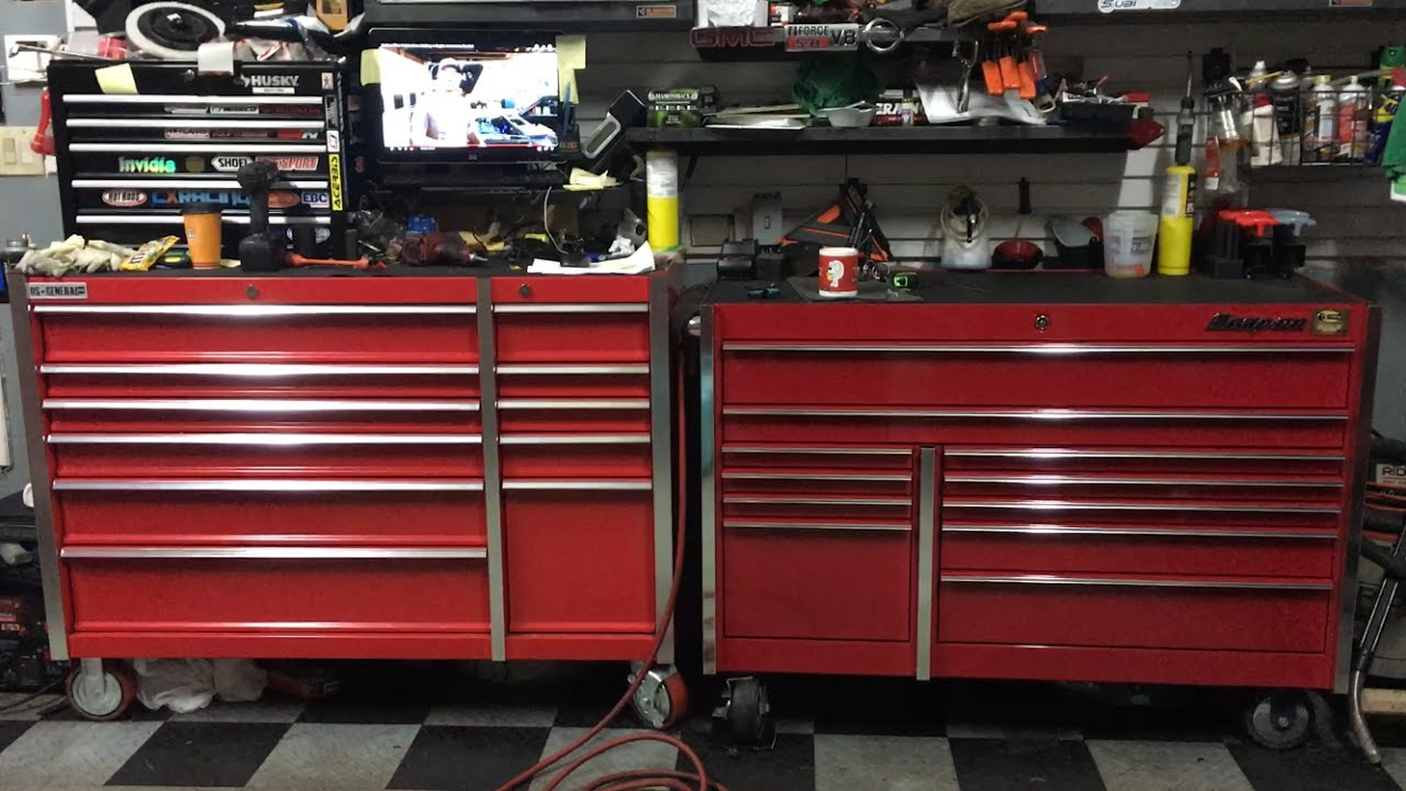 Epic Harbor Freight tool box tour! - Snap on Harbor Freight Matco Mac  Craftsman Cornwell