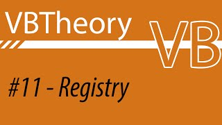 Edit And Create Registry Values - VB #11