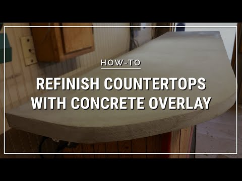 how to overlay a formica countertop