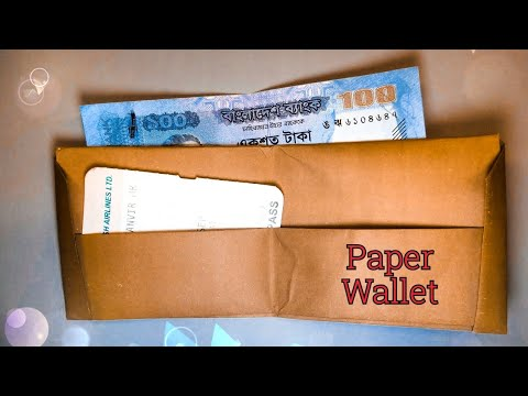 How2 make origami money bag || Origami money bag || By Tanveer Ratul