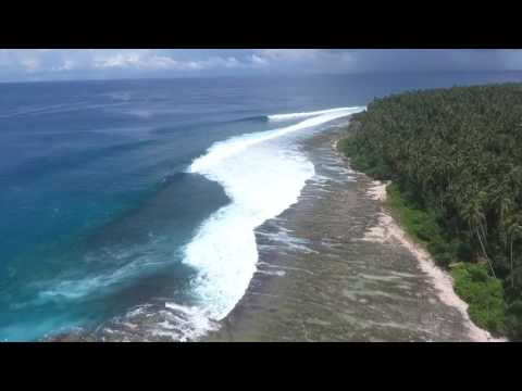 Surfing North Sumatra with The Perfect Wave and Aura Surf Resort | HD Drone surfing footage