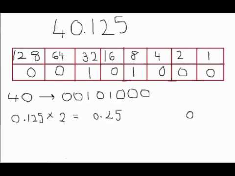 Binary representation of float numbers online