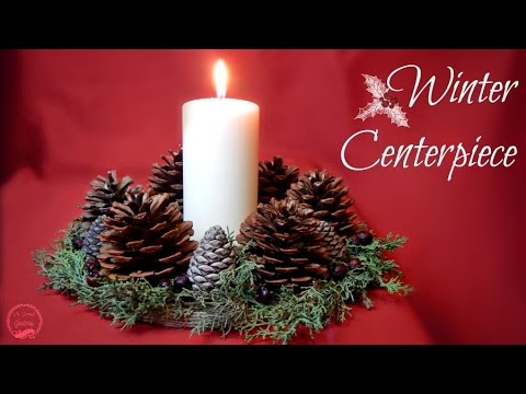 Rustic Winter/Christmas Centerpiece | DIY | The Sweetest Journey