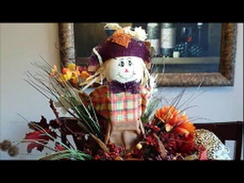 DIY Cute Scarecrow Arrangement