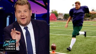 James Corden Is Ready to Kick For Your NFL Team  #LetCordenKick