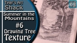 How to Draw - Summer in the Mountains Part Six - Drawing Tree Texture