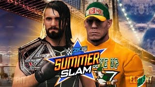Summerslam 2015 - John Cena vs Seth Rollins - WWE & US Title (WWE 2K15 Mods)