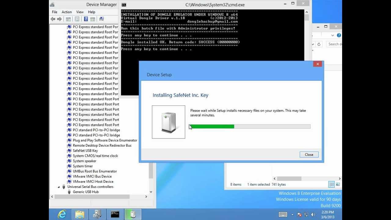 HOWTO: Installing dongle emulator on windows 8 x64 ...