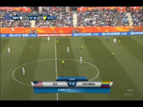 2011 Women's World Cup   Group Stage   USA vs Colombia   First Half