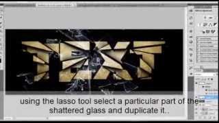 shatter text effect-adobe photoshop cs5 tutorial [de0](TEXTURE: http://www.mediafire.com/download.php?6qk29zi593ea4cc THE ORIGINAL TUTORIAL.., 2012-02-05T06:57:55.000Z)