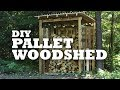 DIY Pallet Woodshed