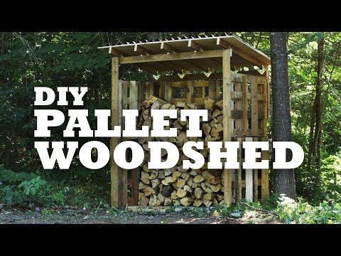 Firewood storage made out of pallets