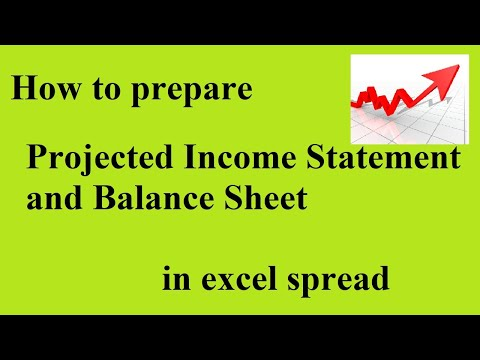 How To Prepare Projected Income Statement And Balance Sheet In Excel Spread Sheet @My ESheet