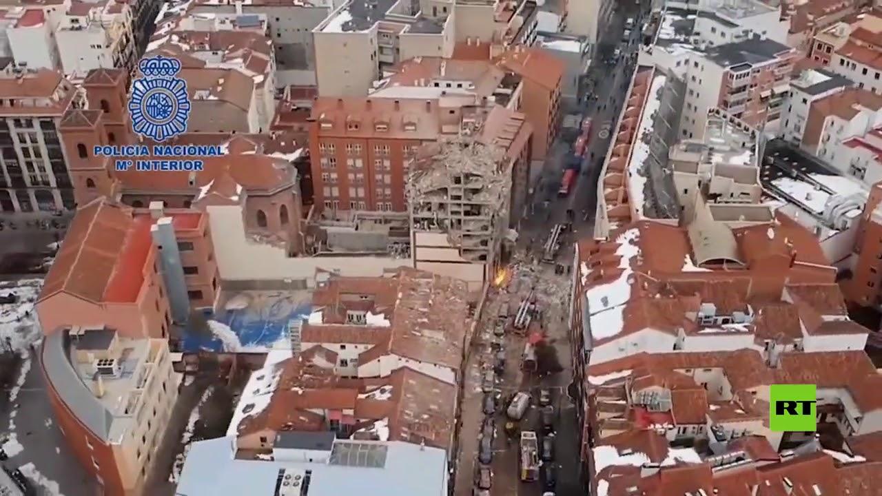 لقطات جوية توثق آثار انفجار مدريد العنيف  - نشر قبل 3 ساعة