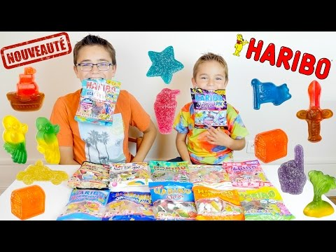 MAXI Dégustation Nouveaux Bonbons HARIBO - Partie 1/2