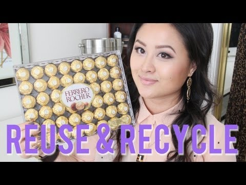 DIY Jewelry & Makeup Storage with Ferrero Rocher ...