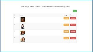Ajax Image Insert Update Delete in Mysql Database using PHP