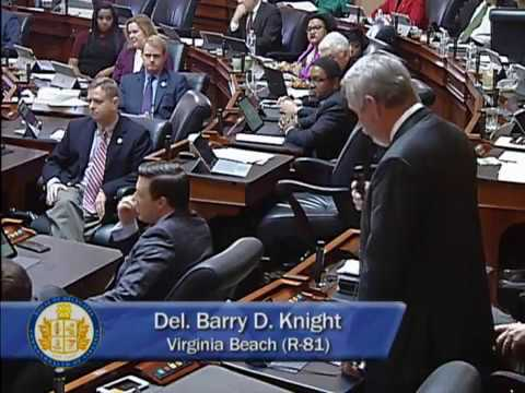 Delegate Barry Knight honors Delegate Gordon Helsel for his military service