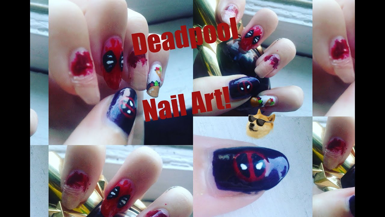 Deadpool Nail Art! - YouTube