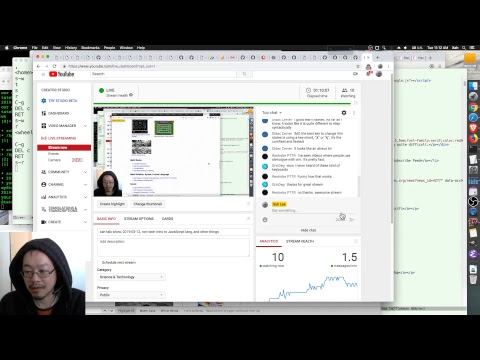 xah talk show, 2019-03-12, non tech intro to JavaScript lang, and other things