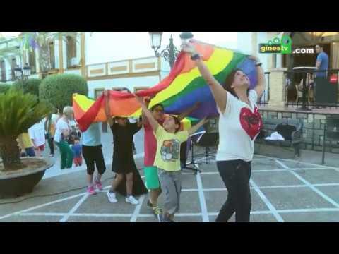"""Gines se une al Día Internacional del Orgullo LGTBI con la izada de la bandera """"Arcoíris"""""""