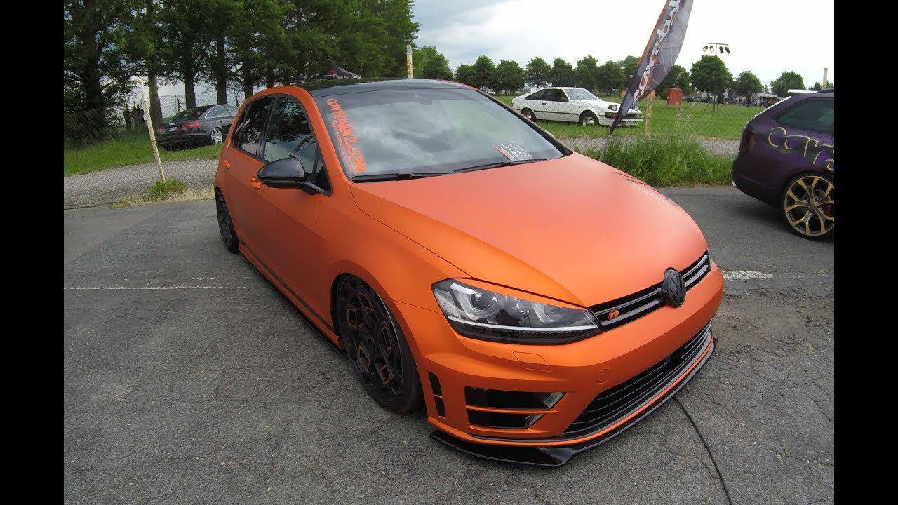 vw golf vii r compilation 3 wrap blue colour walkaround golf 7 type r youtube. Black Bedroom Furniture Sets. Home Design Ideas