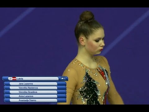 Latvia Rhythmic gymnasts World Cup Pesaro 2017