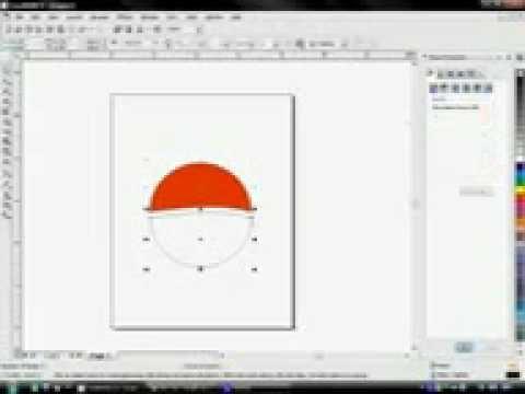 corel draw 12 creating pepsi logo