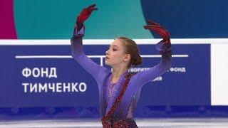 Произвольная программа Девушки Первенство России по фигурному катанию среди юниоров 2021