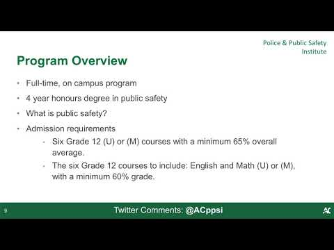 Bachelor of Public Safety Degree - Webinar