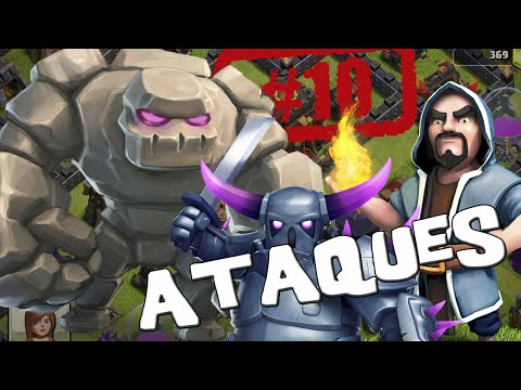 Ataques con Golem, pekkas y magos - Descubriendo Clash of Clans #10 [Español]