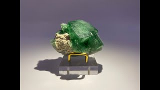 Green Fluorite on Matrix Mineral Rocks and Crystals from Mandrosonoro, Madagascar