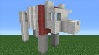 Minecraft Tutorial: How To Make A Grim the Skeletal Dog Statue (TheDiamondMinecart DanTDM)