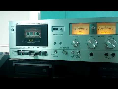 Test chơi Akai Stereo Cassette Deck GXC-725D