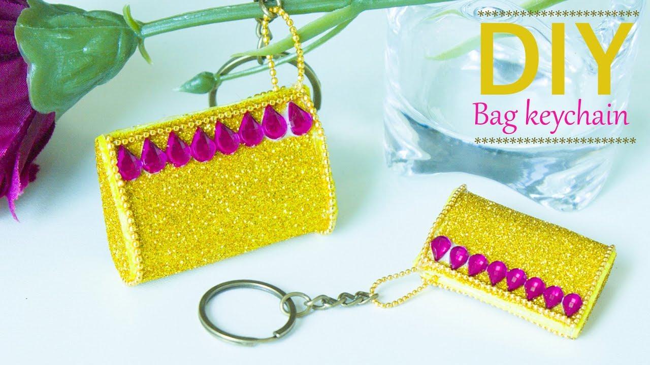 How To Make Mini Bag Keychain Diy Miniature Doll Tutorial For House Beads Art