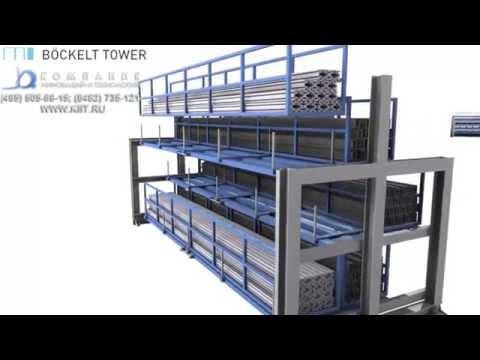 Стеллажи для хранения длинномерного металла |www.kiit.ru| склад профильного проката