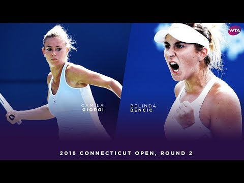 Camila Giorgi vs. Belina Bencic | 2018 Connecticut Open Round 2 | WTA Highlights