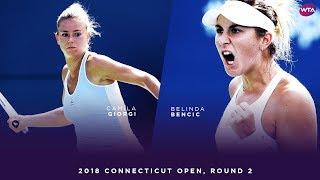 Camila Giorgi vs. Belina Bencic | 2018 Connecticut Open Round 2 | WTA Highlights