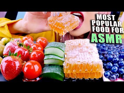 Most Popular Food For ASMR | HONEYCOMB Tanghulu Popping Boba Aloe Vera 먹방