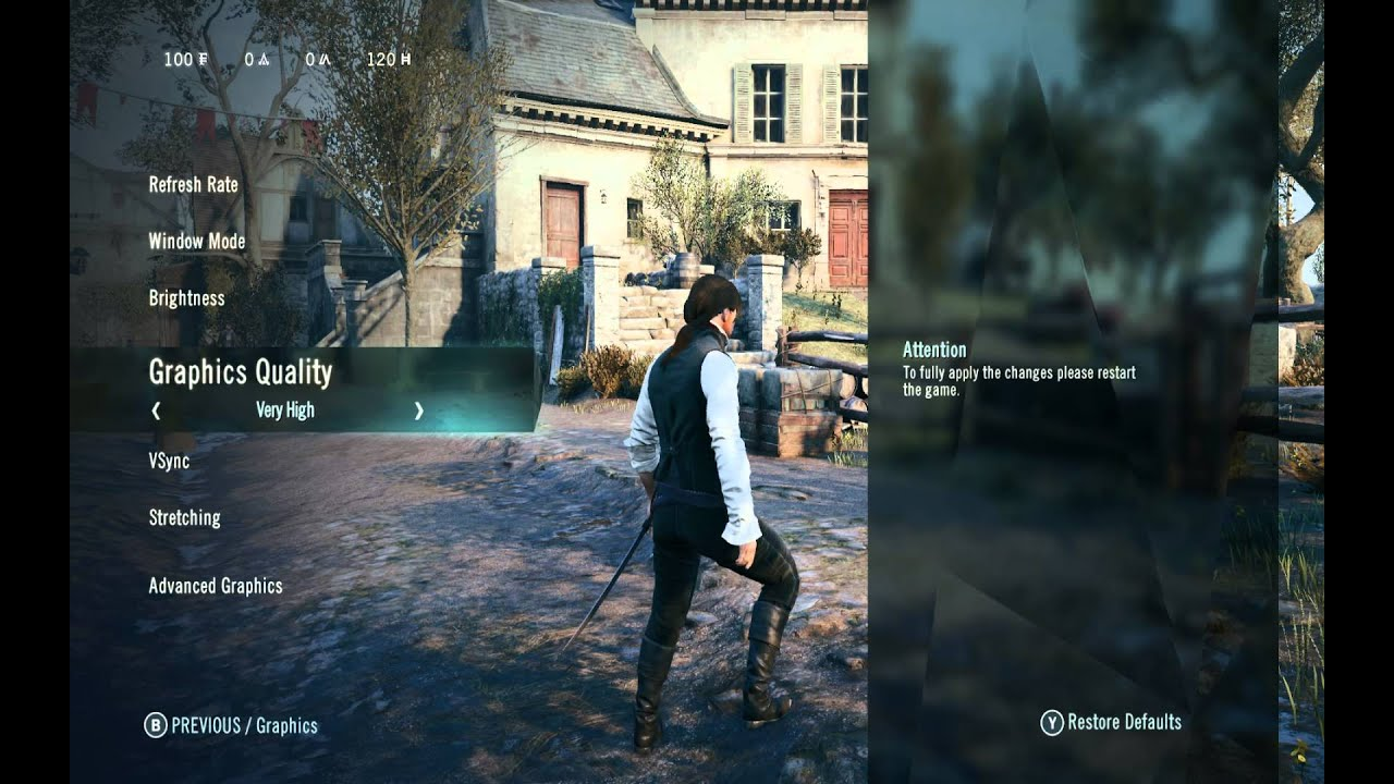 Assassin's Creed Unity - Graphics settings and ShadowPlay